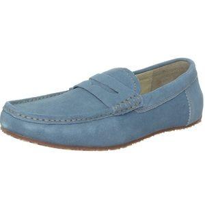Penguin men blue suede loafers